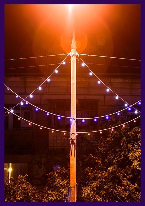 Светодиодная иллюминация для опор освещения - белтлайт на тросе