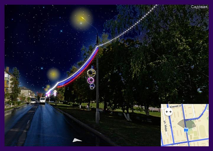 Концепция праздничного украшения города в Подмосковье