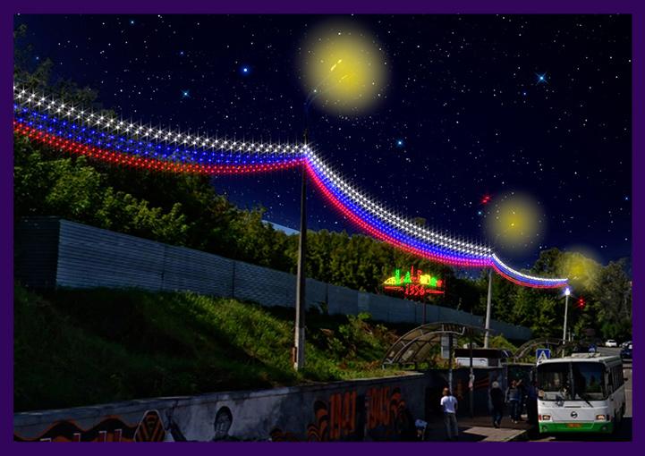 Проект праздничного оформления города в Подмосковье
