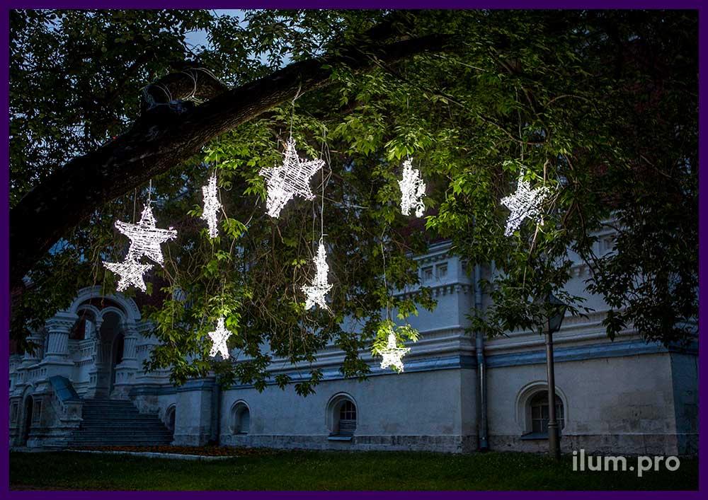 Светодиодные звёзды с гирляндами