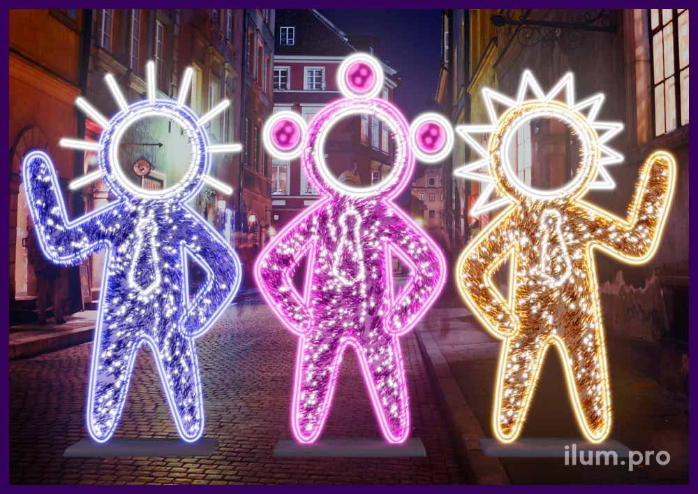 Фотозона на троих человек на Новый год