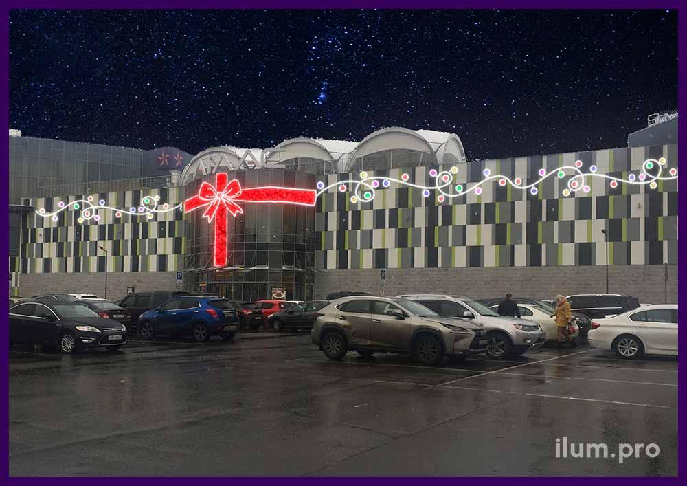 Концепция украшения фасада торгового центра