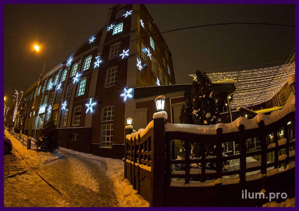Новогодняя иллюминация, гирлянды в Иваново