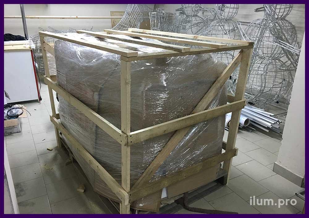Упаковка световых композиций для транспортировки
