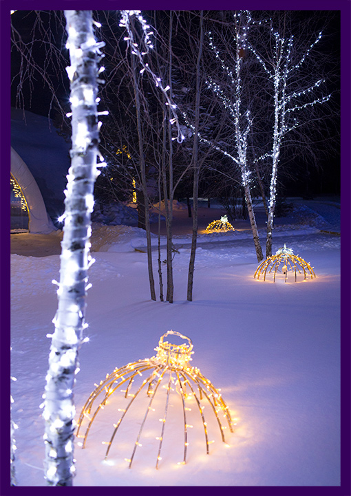 Светодиодные гирлянды и иллюминация на Новый год