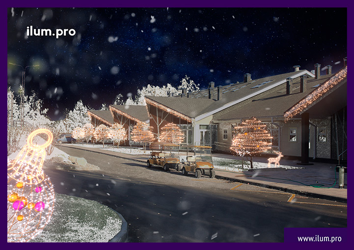 Новогодняя иллюминация в Доброграде - проект украшения