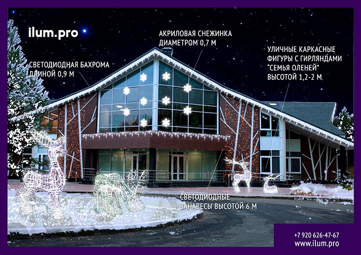 Светодиодные гирлянды на Новый год в Доброграде