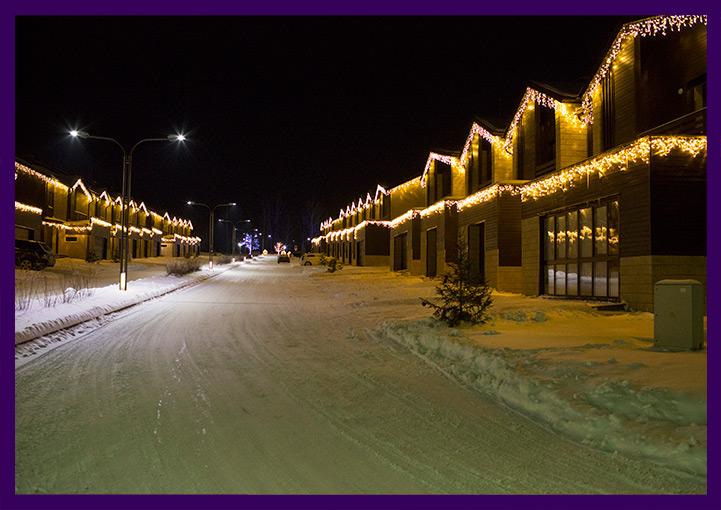 Новогоднее украшение Доброграда светодиодной иллюминацией