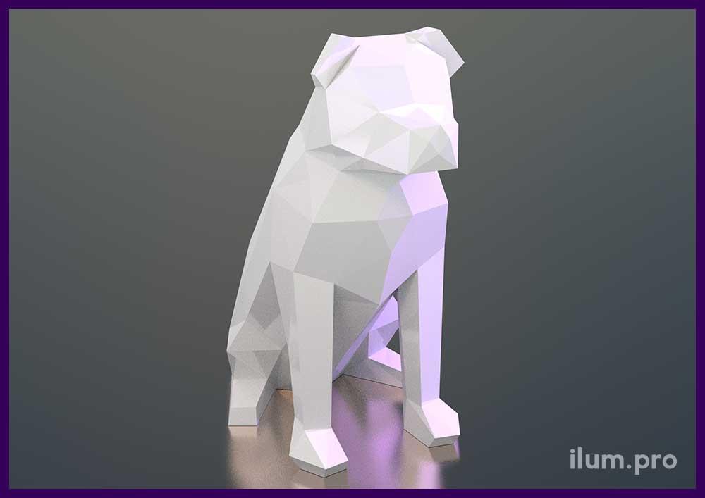Фигура собаки из металла или пластика для украшения интерьера и улицы