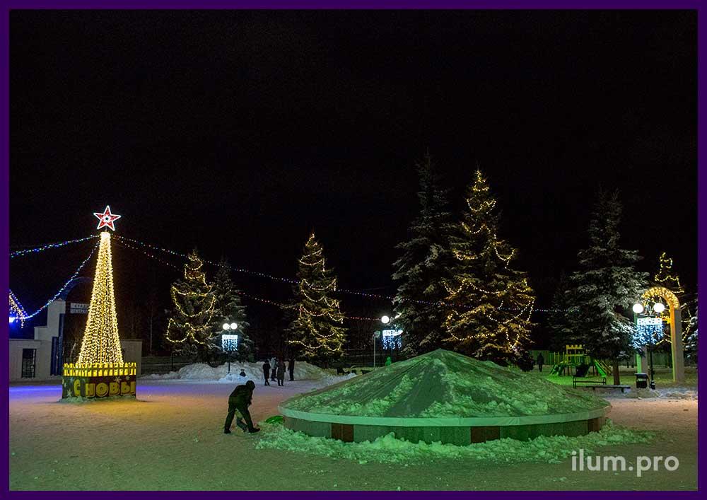Новый год во Владимирской области, украшение города