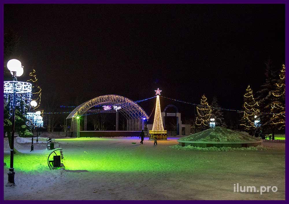 Светодиодное украшение площади и световые консоли