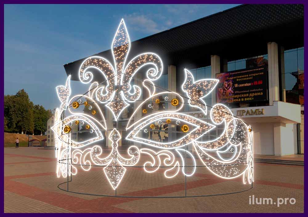 Проект новогодней уличной фигуры с подсветкой гирляндами