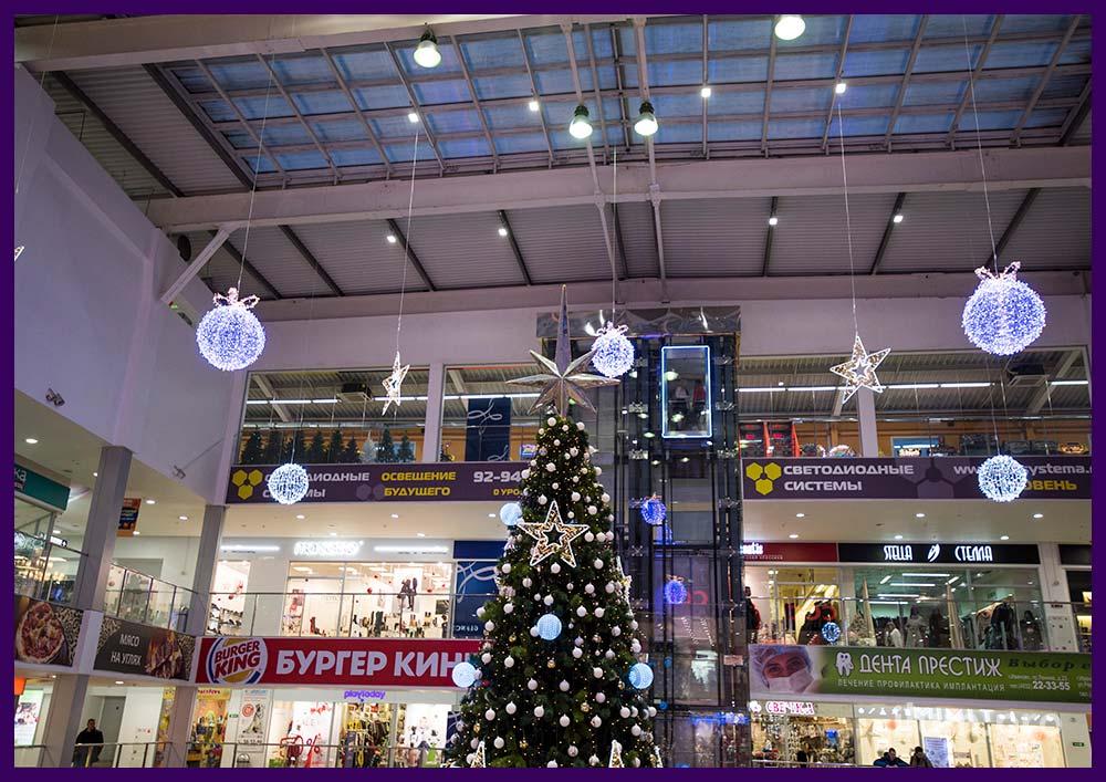 Светодиодные украшения для торгового центра