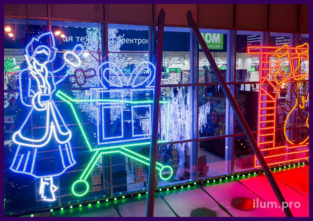 Светодиодные фигуры для торгового центра