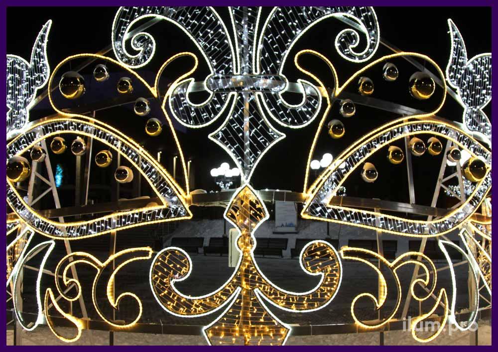 Светодиодная уличная фигура в форме театральной маски, короны или диадемы