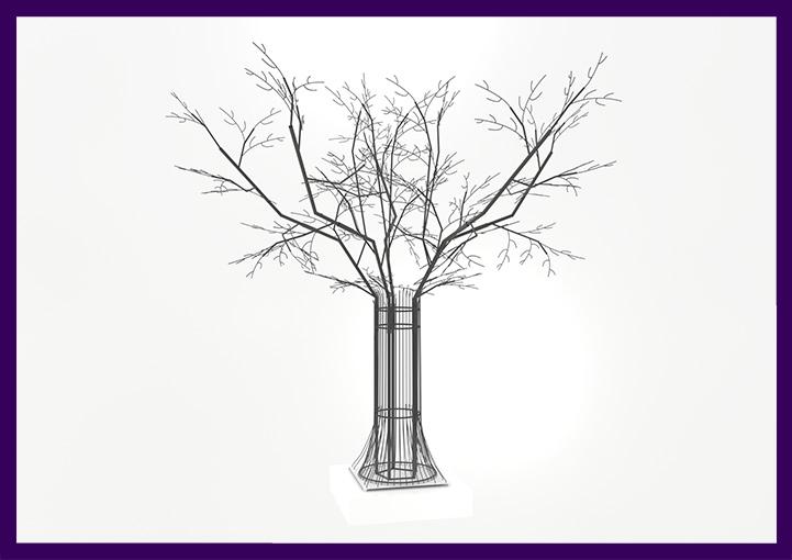 Каркасная фигура - дерево для украшения на Новый год