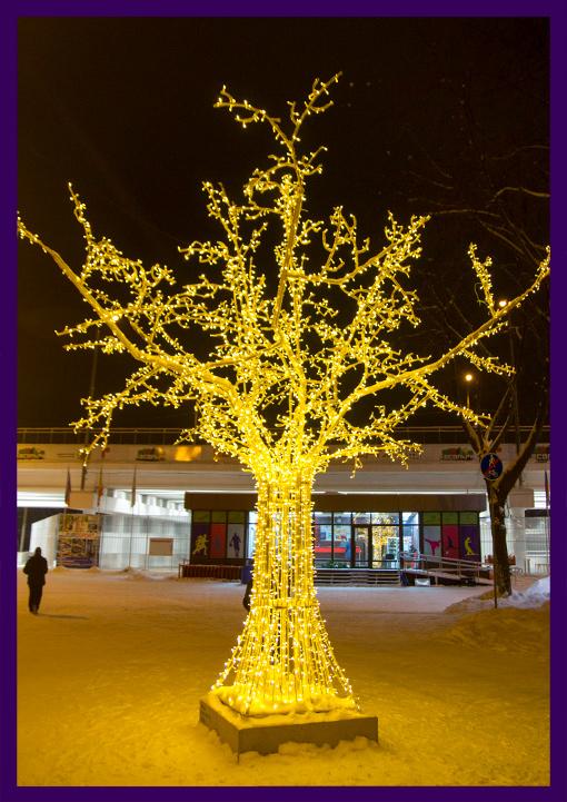 Светодиодные деревья из алюминия от производителя