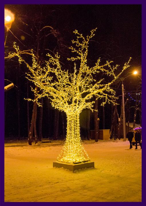 Световое дерево - арт-объект для парка