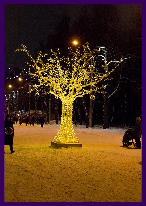 Дерево светящееся высотой 5 метров