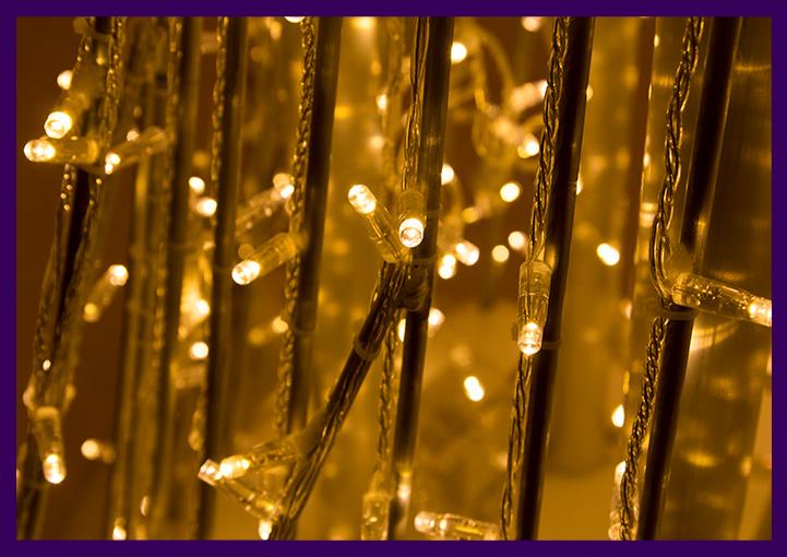 Фотозона на Новый год для парка - гирлянды на алюминиевом каркасе