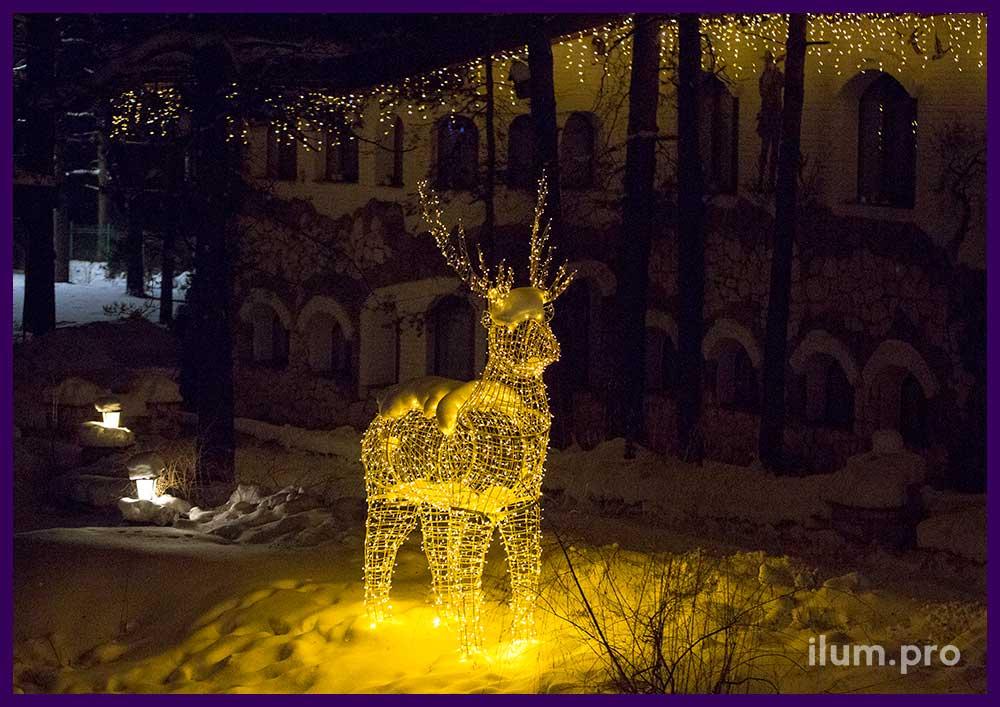 Новогодние украшения в Парк-Отеле во Владимире