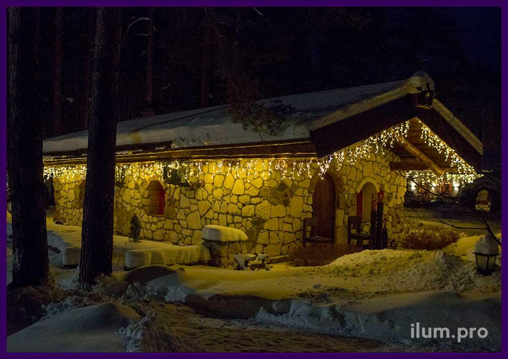 Новогоднее украшение отеля во Владимирской области