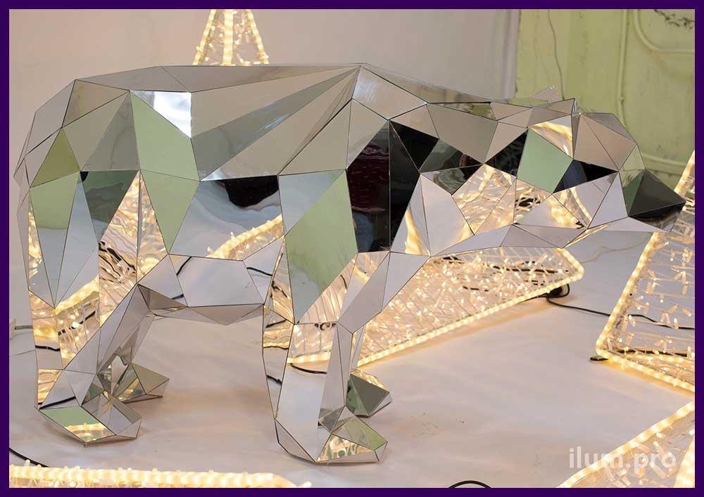 Полигональная скульптура животного для интерьера