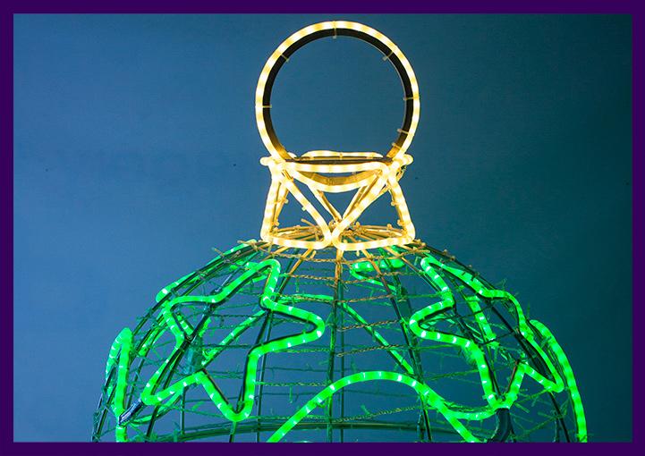 Световая фигура с подсветкой разноцветным дюралайтом