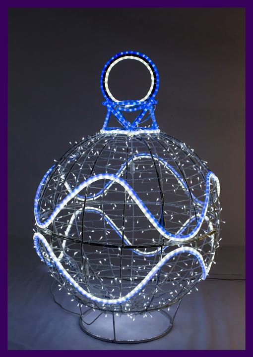 Новогодняя световая фигура для украшения улицы