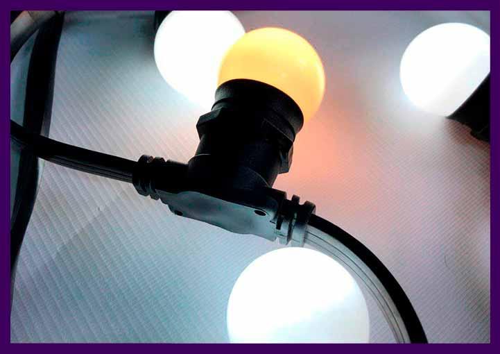 Светодиодные гирлянды для интерьера с крупными лампочками