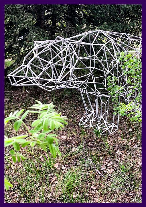 Алюминиевый медведь для украшения интерьера и улицы