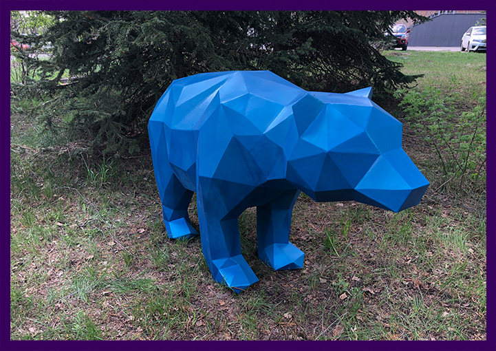 Садово-парковая скульптура полигональное животное