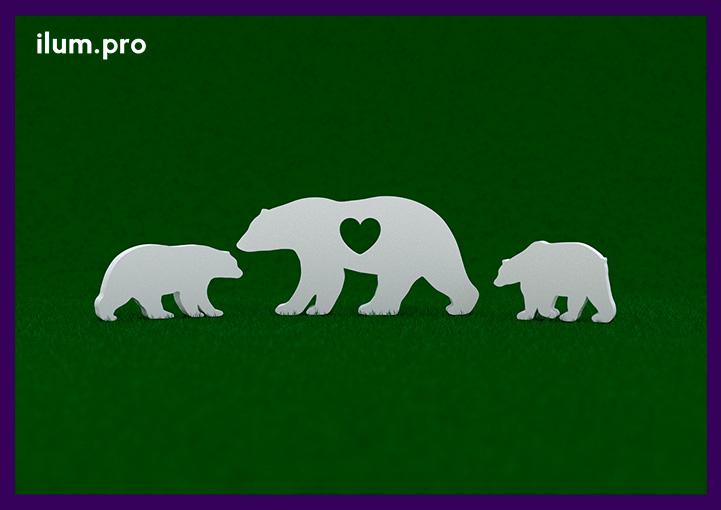 Белые медведи - садово-парковые арт-объекты из металла