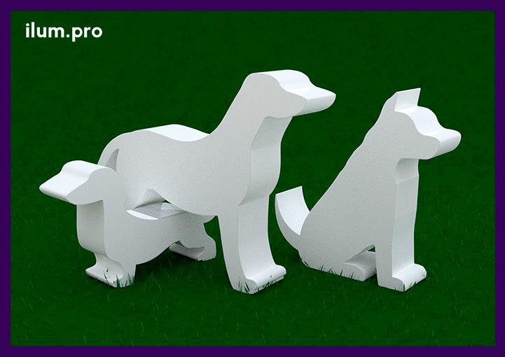 Металлические ландшафтные скульптуры собак для сада и частной территории