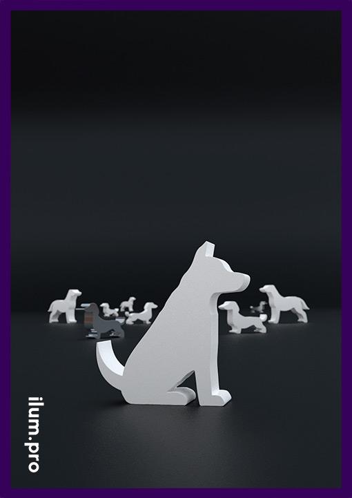 Металлические собаки - садово-парковые фигуры для ландшафта