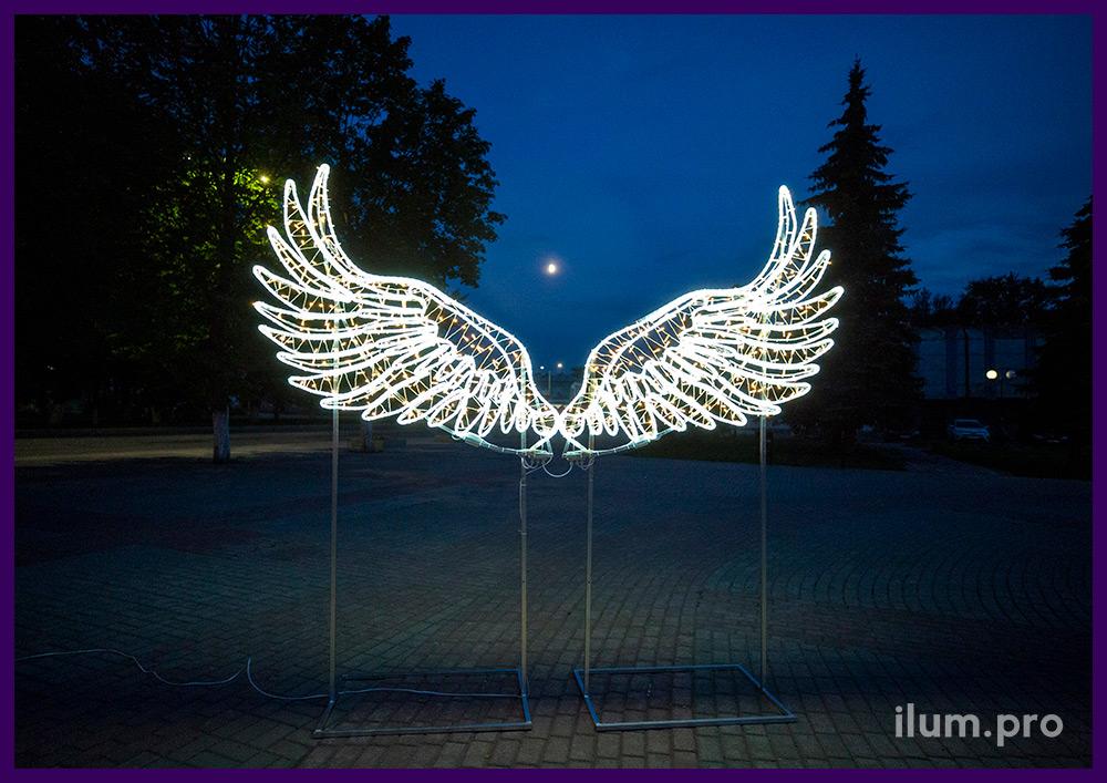 Светодиодные крылья ангела для людей