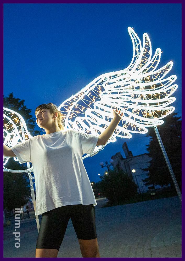 Светодиодные крылья - фон для фотографий