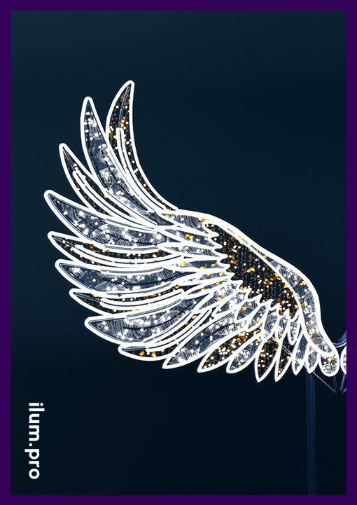 """Светящееся крыло с декором от фотозоны """"Крылья"""""""