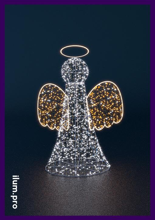 Ангел светодиодный для украшения города на Рождество