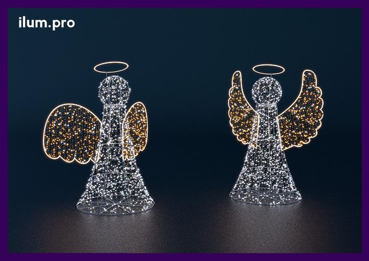 Ангелы высокие со светодиодной подсветкой