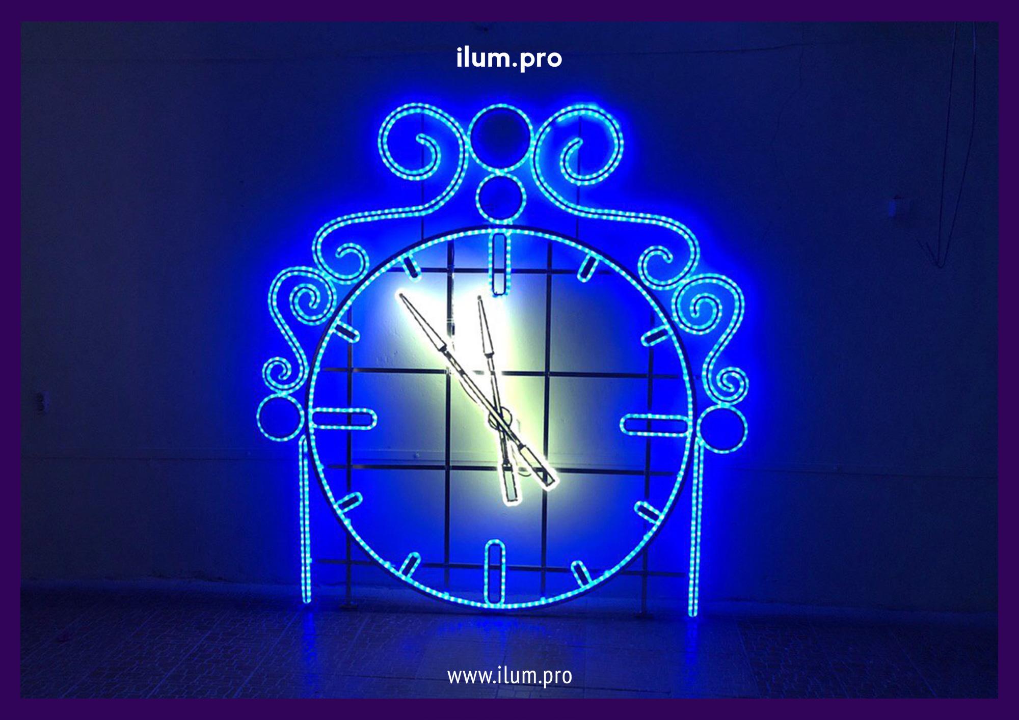 Светодиодная консоль часы в процессе производства