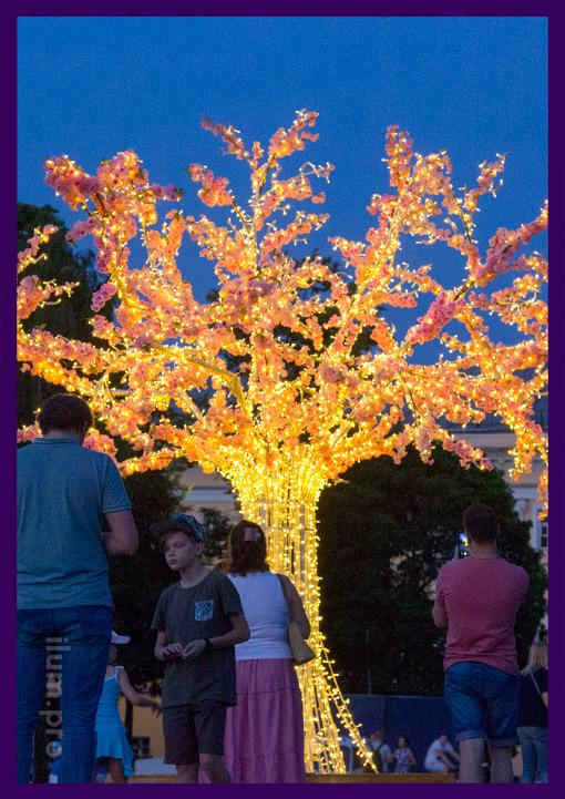 Фотозона со светодиодным деревом во Владимире