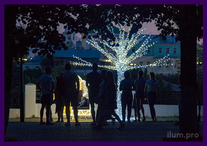 Фотозона светодиодная для украшения парка на праздники