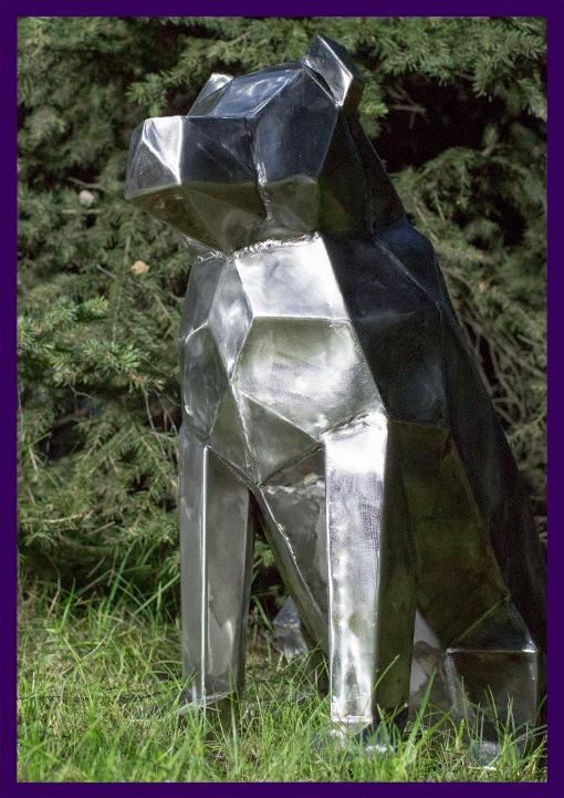 Металлическая мобака из полигональной нержавеющей стали
