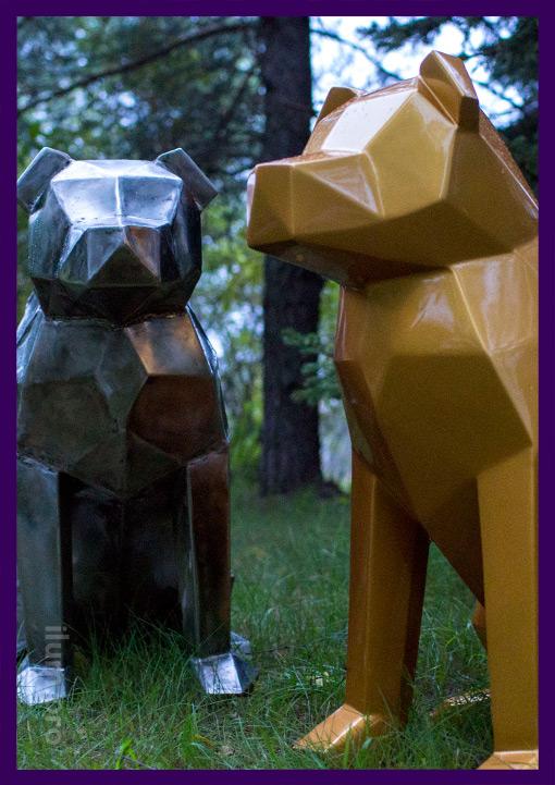 Собаки полигональные металлические для лофта
