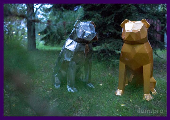 Стальные собаки металлические для украшения города