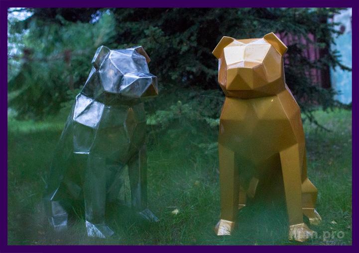Собаки полигональные из стали и нержавейки