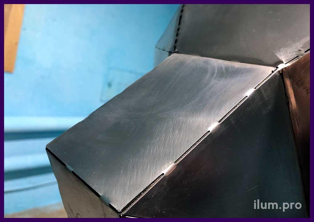 Подготовка полигональной фигуры из металла к покраске