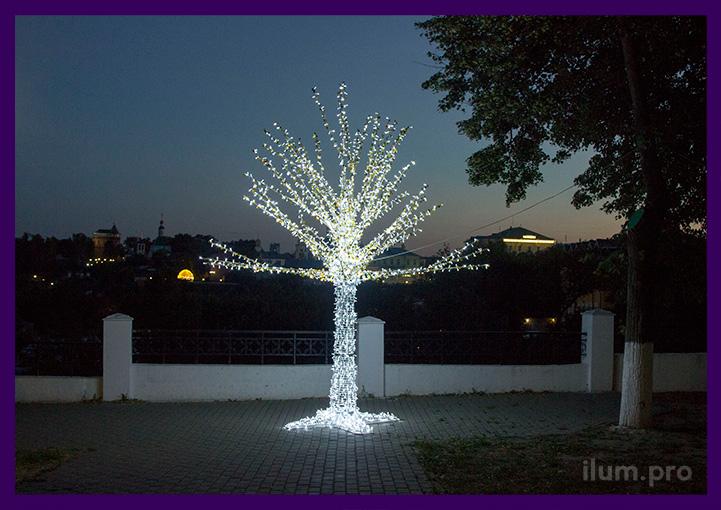 Дерево для украшения парка с подсветкой