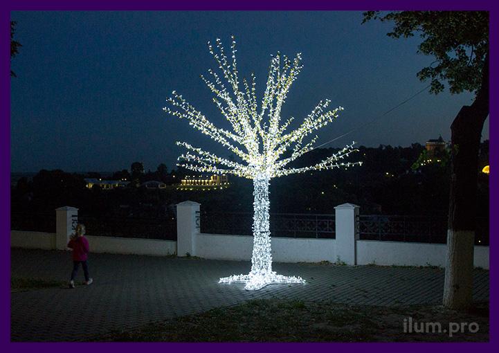 Уличное светодиодное дерево